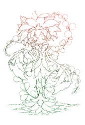 the dancing flower... sketch by sureya
