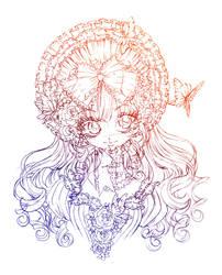 miss butterfly... sketch by sureya