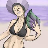 Armonda at the Beach by Melleh17