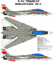 F-14 tomcat squadron vf1 by bagera3005