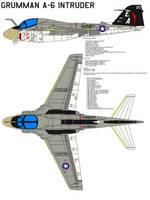 Grumman A-6 Intruder by bagera3005