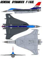 General Dynamics F-16XL by bagera3005