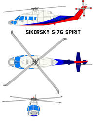 Sikorsky S-76 Spirit by bagera3005