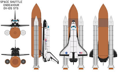 Space shuttle Endeavour OV-105 by bagera3005