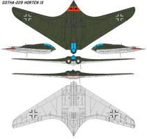 Gotha-229 Horten IX by bagera3005