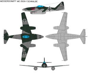 Messerschmitt 262A-1 Schwalbe by bagera3005