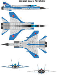 Mikoyan MiG-31 Foxhound by bagera3005