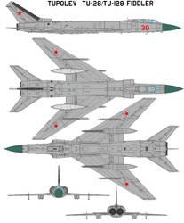 Tupolev Tu-128  Fiddler by bagera3005