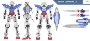 GN-001 Gundam Exia by bagera3005