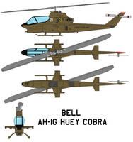 Bell AH-1G Huey Cobra by bagera3005