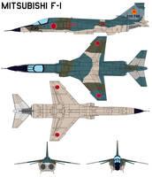 Mitsubishi F-1 by bagera3005
