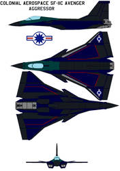 Colonial Aerospace SF-11C Avenger aggressor by bagera3005