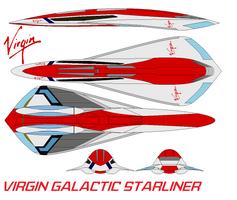 Virgin Galactic Starliner by bagera3005