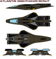 Atlantis  Nighthawk scout attack olive drab green by bagera3005
