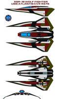 XSR-19 wolf fighter USS Atlantis CVX-4575 by bagera3005