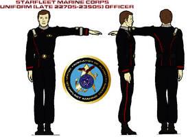 STARFLEET Marine Corps uniform (late 2270s-2350s)  by bagera3005