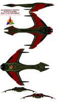 Klingon K'mpec D-44 class  Battle Cruiser by bagera3005