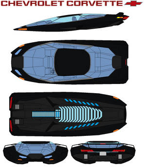 Chevrolet Corvette hover car by bagera3005