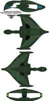 Romulan Warbird  D'deridex Battlecrusier by bagera3005