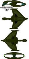 romulan warbird D'deridex Battlecrusier  Belak by bagera3005