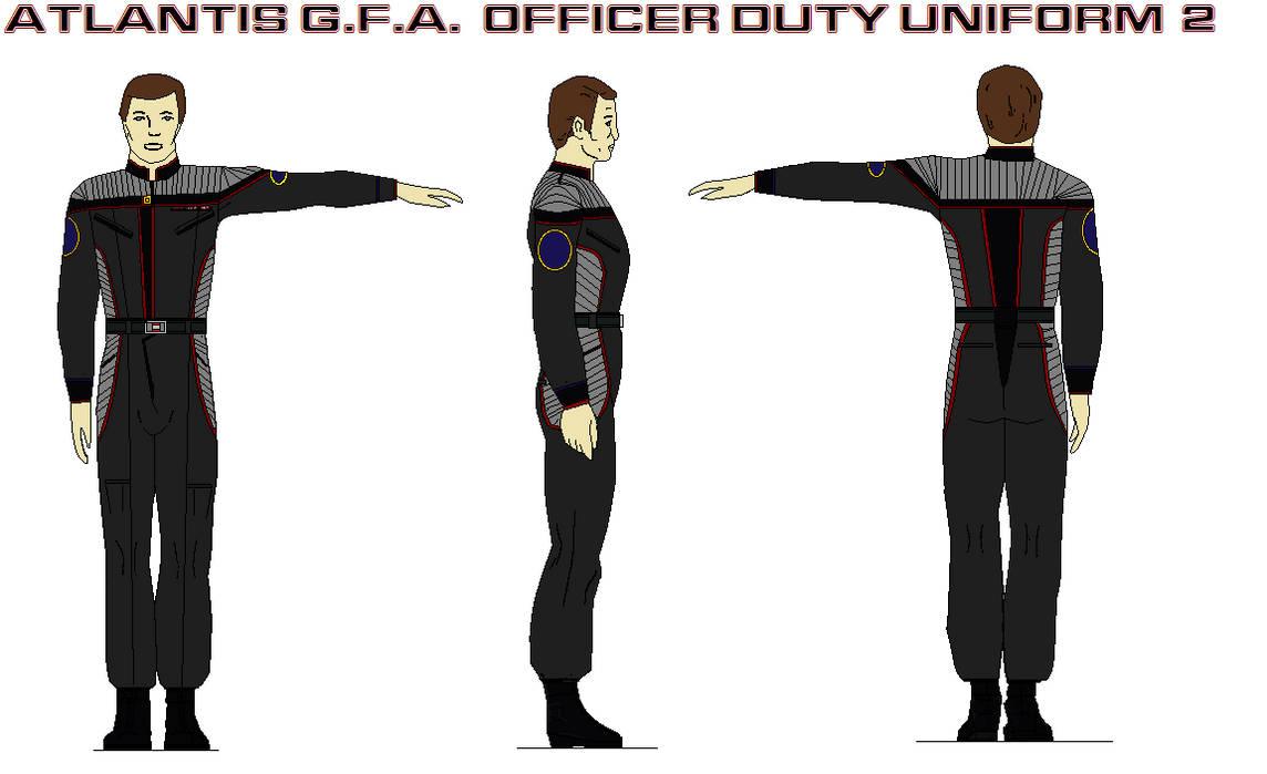 Atlantis G.F.A.  Officer Duty Uniform 2 by bagera3005