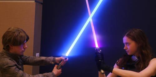 Mara Jade vs Luke Skywalker by bagera3005
