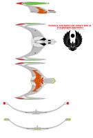 Romulan Bird of Prey mk 2 Thunder nei'rrh classic  by bagera3005