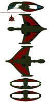 Klingon  Warbird D'deridex Battlecrusier by bagera3005