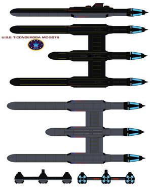 U.S.S. Ticonderoga  MC-5076 by bagera3005