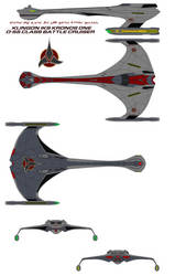 Klingon IKS Kronos One D-55 Class Battle Cruiser by bagera3005