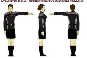 Atlantis G.F.A.  Officer Duty Uniform female by bagera3005