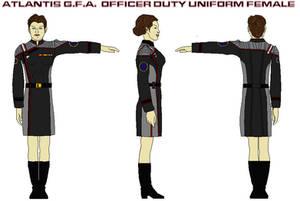 Atlantis G.F.A.  Officer Duty Uniform female 2 by bagera3005
