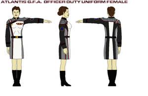 Atlantis G.F.A. dress admirals uniform female by bagera3005