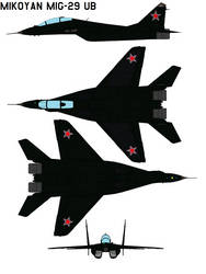 Mikoyan MiG-29 ub KNIGHT by bagera3005
