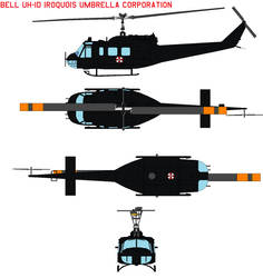 Bell UH-1d Iroquois Umbrella Corporation by bagera3005