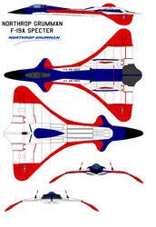 Northrop GrummanF-19A Specter USAF by bagera3005