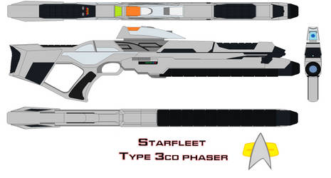 Starfleet Phaser Rifle Type 3cd by bagera3005