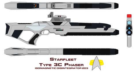 starfleet phaser rifle type 3c Isomagnetic Disinte by bagera3005