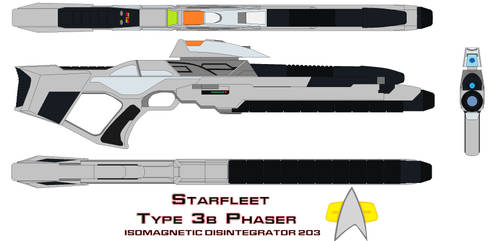 starfleet phaser rifle type 3b Isomagnetic Disinte by bagera3005