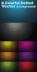 8 Colourful Dotted background by creativity-online