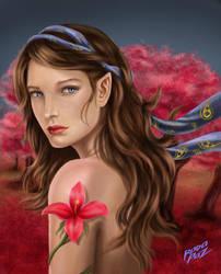 Hada del bosque rojo by rodoarte