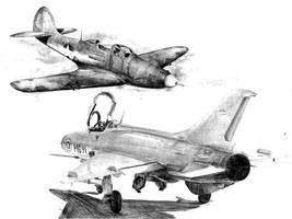 Aircraft Drawings 2 by MakmunBaban