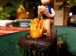 clay fire (GLAZED) by MonnieBiloney