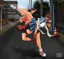Sakura vs Karin by andersaito
