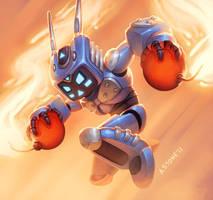Robot Bomber by alexstoneart