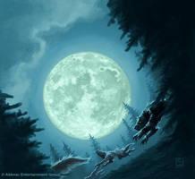 Full Moon by alexstoneart