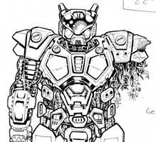 POWER ARMOR by goldbrandonium