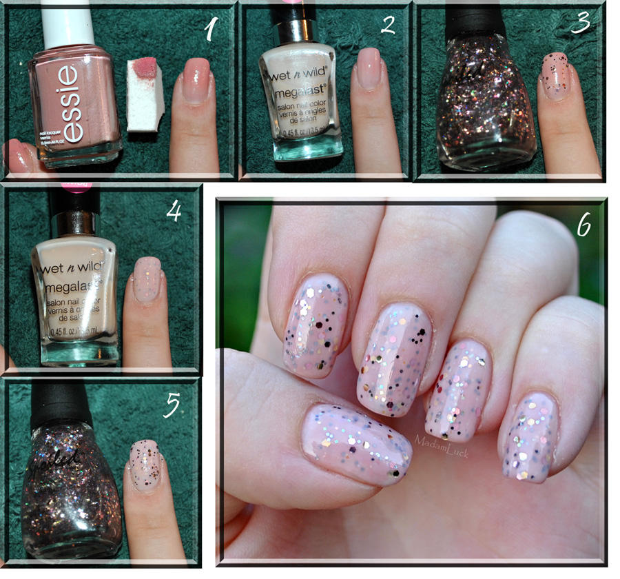 Glitter Egg Shell Nail Effect + tutorial by MadamLuck