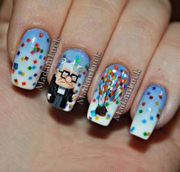 UP ... movie inspired nail art by MadamLuck