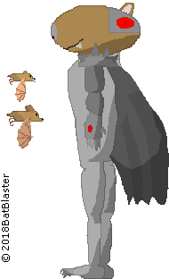 Mecha's New Sprite (with bats for comparison) by BatBlaster